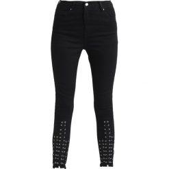 Topshop LATTICE Jeansy Slim Fit black. Czarne jeansy damskie marki Topshop. W wyprzedaży za 144,50 zł.