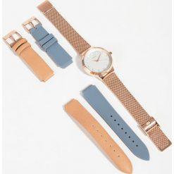 Parfois - Zegarek + 2 paski. Szare paski damskie Parfois, szklane. W wyprzedaży za 129,90 zł.