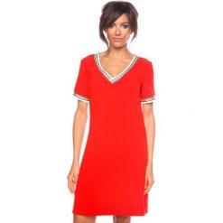 """Sukienki hiszpanki: Sukienka """"Marie"""" w kolorze czerwonym"""