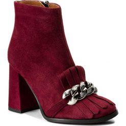 Botki EVA MINGE - Felipina 2N 17SF1372246EF 834. Czerwone buty zimowe damskie Eva Minge, ze skóry, na obcasie. W wyprzedaży za 269,00 zł.