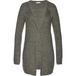 Swetry damskie: Sweter rozpinany bonprix ciemnooliwkowo-srebrny