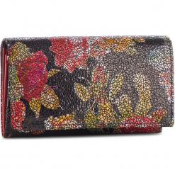 Duży Portfel Damski STEFANIA - 007D Róż. Czarne portfele damskie marki Stefania, z nubiku. Za 149,00 zł.