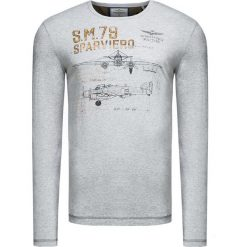 T-shirty męskie: T-shirt AERONAUTICA MILITARE Szary