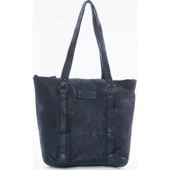 Shopper bag damskie: Shopper bag w kolorze niebieskim – 28 x 30 x 12 cm