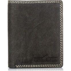 Czarny PORTFEL MĘSKI ze skóry z ochroną KART RFID. Czarne portfele męskie marki Pakamera, ze skóry. Za 99,00 zł.