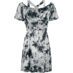 Innocent Saga Tie Dye Sukienka szary. Niebieskie sukienki na komunię marki bonprix, na lato, w kwiaty, z asymetrycznym kołnierzem. Za 79,90 zł.