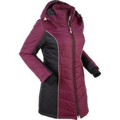 Płaszcz funkcyjny pikowany bonprix jeżynowy. Fioletowe płaszcze damskie pastelowe bonprix, s. Za 239,99 zł.
