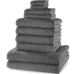"""Bielizna męska: Komplet ręczników """"New Uni""""(10 części) bonprix antracytowy"""