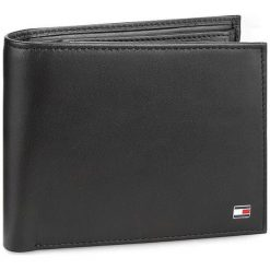 Portfele męskie: Duży Portfel Męski TOMMY HILFIGER – Eton Cc Flap And Coin Pocket AM0AM00652 002