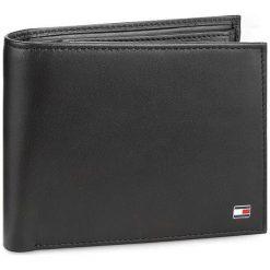 Duży Portfel Męski TOMMY HILFIGER - Eton Cc Flap And Coin Pocket AM0AM00652 002. Czarne portfele męskie TOMMY HILFIGER, ze skóry. Za 299,00 zł.