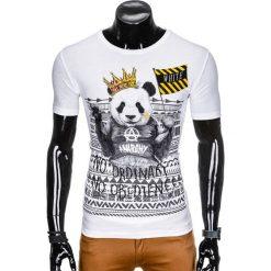 T-SHIRT MĘSKI Z NADRUKIEM S931 - BIAŁY. Białe t-shirty męskie z nadrukiem Ombre Clothing, m. Za 29,00 zł.