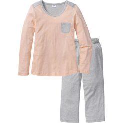 Piżamy damskie: Piżama ze spodniami 3/4 bonprix naturalny melanż- beżowy
