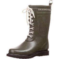 Ilse Jacobsen Kalosze army. Brązowe buty zimowe damskie marki Alma en Pena, z materiału, na obcasie. W wyprzedaży za 356,30 zł.