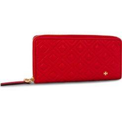 Portfele damskie: Duży Portfel Damski TORY BURCH - Fleming Zip Continental Wallet 46542 Brilliant Red 612