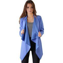Kardigany damskie: Narzutka w kolorze niebieskim