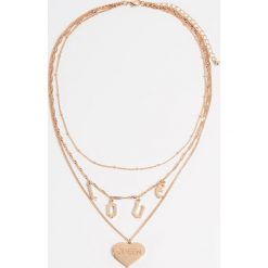 Naszyjnik z zawieszkami - Złoty. Brązowe naszyjniki damskie marki Sinsay. W wyprzedaży za 19,99 zł.