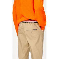 Odzież dziecięca: Spodnie chino ze ściągaczem w pasie - Beżowy