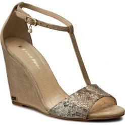 Sandały damskie: Sandały SOLO FEMME - 26410-32-G08/G46-07-00 Taupe/Wąż Złoty