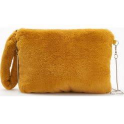 Kopertówka z pluszu - Żółty. Żółte puzderka Reserved. Za 59,99 zł.