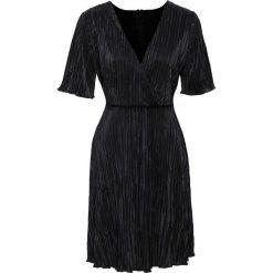 Sukienki balowe: Sukienka plisowana bonprix czarny