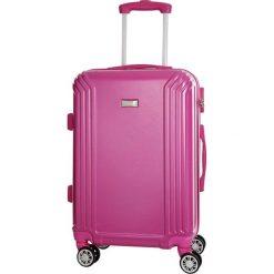 Walizka w kolorze fuksji - 36 l. Czerwone walizki marki Platinium, z materiału. W wyprzedaży za 179,95 zł.