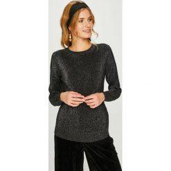 Answear - Sweter. Czarne swetry klasyczne damskie marki ANSWEAR, l, z dzianiny, z okrągłym kołnierzem. W wyprzedaży za 89,90 zł.