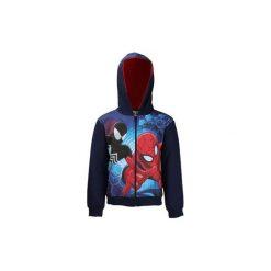 Bluza rozpinana chłopięca Spiderman. Czarne bluzy chłopięce rozpinane TXM, z motywem z bajki. Za 49,99 zł.