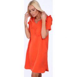 Sukienki: Sukienka z kieszonką pomarańczowa 21663