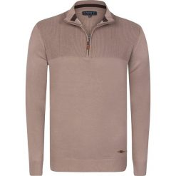 """Golfy męskie: Sweter """"Berwick"""" w kolorze szarobrązowym"""