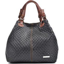 Torebki klasyczne damskie: Skórzana torebka w kolorze czarnym – (S)36 x (W)30 x (G)17 cm