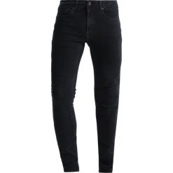 Topman DON SPRAY ON Jeansy Slim Fit black. Niebieskie jeansy męskie marki Topman. Za 169,00 zł.
