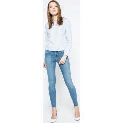 Only - Bluzka. Szare bluzki z odkrytymi ramionami marki ONLY, s, z bawełny, casualowe, z okrągłym kołnierzem. W wyprzedaży za 49,90 zł.