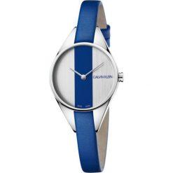 ZEGAREK CALVIN KLEIN K8P231V6. Niebieskie zegarki damskie marki Calvin Klein, szklane. Za 869,00 zł.