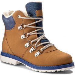 Buty zimowe chłopięce: Trapery MIDO – 468 Żółto-Niebieski