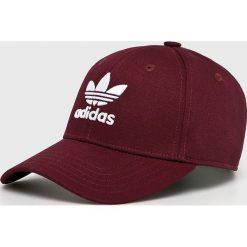 Adidas Originals - Czapka. Brązowe czapki z daszkiem damskie marki adidas Originals, z bawełny. Za 69,90 zł.