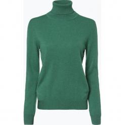 Franco Callegari - Sweter damski z czystego kaszmiru, zielony. Zielone swetry klasyczne damskie marki Franco Callegari, z napisami. Za 579,95 zł.