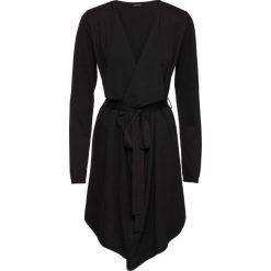 Płaszcz dzianinowy bonprix czarny. Czarne płaszcze damskie pastelowe bonprix, z dzianiny. Za 89,99 zł.
