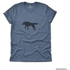 Tshirt unisex WOLF ciemny szary. Szare t-shirty męskie z nadrukiem Pakamera, z bawełny. Za 75,00 zł.