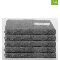 Kąpielówki męskie: Ręczniki prysznicowe (5 szt.) w kolorze antracytowym