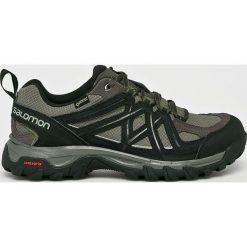 Salomon - Buty. Szare buty trekkingowe męskie Salomon, z gore-texu, na sznurówki, outdoorowe, gore-tex. W wyprzedaży za 399,90 zł.