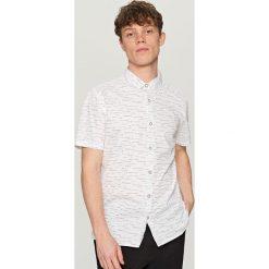 Koszule męskie na spinki: Koszula z krótkim rękawem – Biały