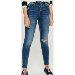 Jeansy skinny z wysokim stanem - Granatowy. Niebieskie jeansy damskie skinny marki House, z jeansu. Za 89,99 zł.