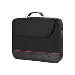 """Sumdex Continent  CC - 100BK 15""""-16"""" czarna. Czarne torby na laptopa marki Sumdex, w paski. Za 54,90 zł."""