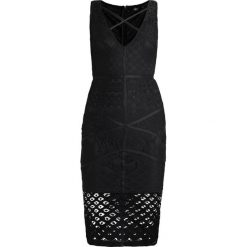 Sukienki hiszpanki: Missguided CROSS FRONT MIDI DRESS Sukienka koktajlowa black
