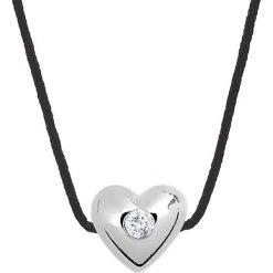 Naszyjniki damskie: Naszyjnik w kolorze czarnym z diamentem – dł. 42 cm