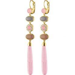 Kolczyki damskie: Kolczyki w kolorze złotym z kamieniami i kryształami