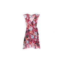 Sukienki krótkie Morgan  REVE. Czerwone sukienki mini marki Morgan, z krótkim rękawem. Za 255,50 zł.