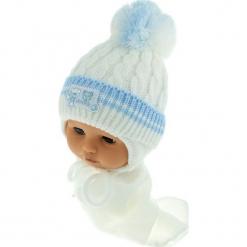 Czapka niemowlęca z szalikiem CZ+S 150A. Szare czapeczki niemowlęce Proman. Za 39,76 zł.