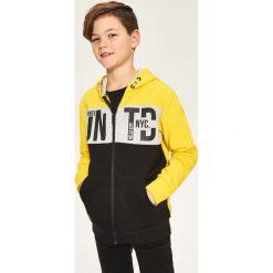 Odzież dziecięca: Rozpinana bluza z kapturem - Żółty