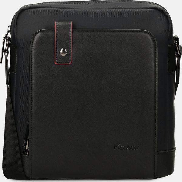 d8cebe94933e7 Czarna torba przez ramię - Czarne torby męskie na ramię Kazar, w ...